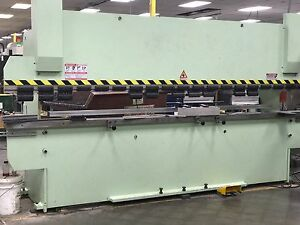 Cnc Hydraulic Press Brake 2015 14 X 12 Gauge 33 Ton 4 way Die