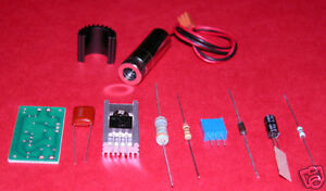300mw 650nm Red High Power Laser Diode Module Kit With Glass Lens