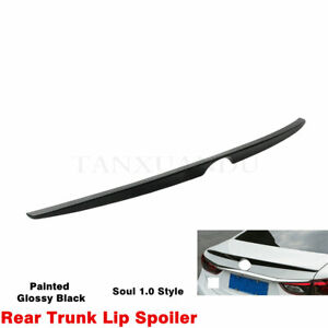 Black Painted Oe type Rear Tail Trunk Lip Spoiler Wing For Mazda 6 Atenza 14 18