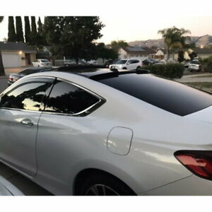 Stock 889 Hrw Type Rear Roof Spoiler Window Wing For 2013 17 Honda Accord Coupe