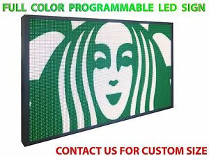 12 X 63 New Bright Digital Led Sign Programmable Text Graphic Display Outdoor