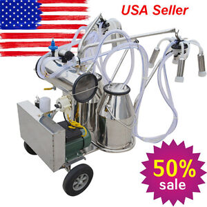 Stainless Steel Mini Milking Machine 6 6 Gal For Cows 110v Complete free Extras