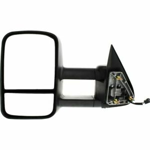 New Left Side Heated Black Towing Mirror For Cadillac Chevrolet Gmc Truck 99 02