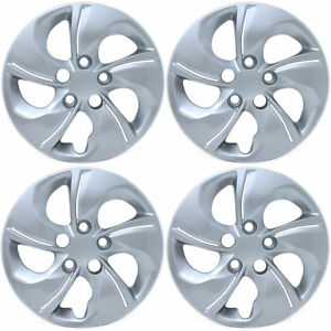 New 4pc Fits 06 15 Honda Civic 15 Bolt On Hubcaps Wheel Covers For Steel Wheels