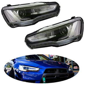 Fit For Mitsubishi 2008 17 Lancer Evo Audi A5 Style Headlights Headlamp Led Drl