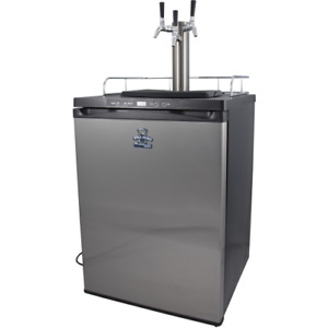 Keg King Series 4 Triple Tap Stainless Steel Kegerator Digital Temp Controlled