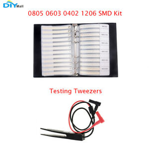 0805 0603 0402 1206 Smd Resistor Capacitor Combo Sample Book Assortment Kit