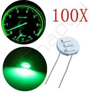 100pcs Green 3smd Led Bulbs Instrument Cluster Backlight For Gm Cliamte Control