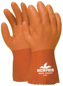 Memphis 6620xl Red Coat Gloves Red Pvc Double Dipped 10 Size Xl 12 Pair