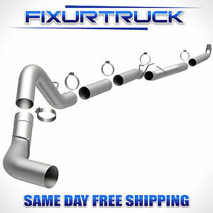 5 Magnaflow Exhaust Down Pipe Back For 01 10 Gmc Chevy Duramax 6 6l