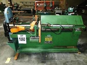 Nichols Cleat Machine W Custom Band Saw Attachment woodworking Machinery