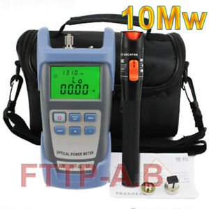Fiber Optical Power Meter 10mw 10 12km Visual Fault Locator Cable Tester Bag