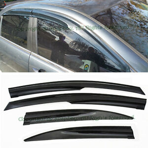 Fit 04 08 Acura Tsx Mugen Style Jdm Smoke Window Visors Rain Guard Deflectors