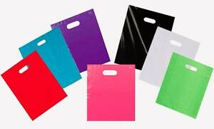 Plastic Merchandise Shopping Bags Handle Retail Gift Bags Available In 3 Sizes