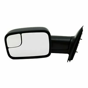 New Driver Side Manual Non heated Towing Mirror For Dodge Ram Trucks 2002 2009
