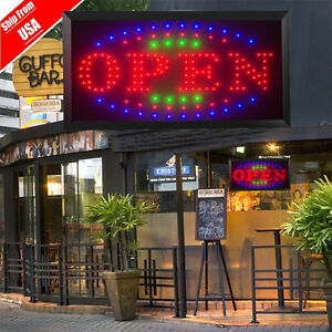 110 220v Bright Led Open Store Restaurant Business Bar Light Sign Neon Switch