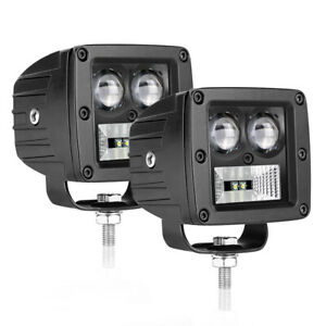 2x3in 80w Cree Led Cube Pods Work Lights Spot Fog Driving Quad Row Offroad Atv