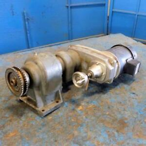 Nord Gear Reducer Sk 30 01 r100z 56c W Leeson 1725rpm 1 2hp Motor C6t17fc10e
