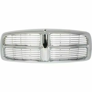 New Grille Assembly Chrome Plastic For Dodge Ram 1500 2002 05 Ram 2500 2003 05