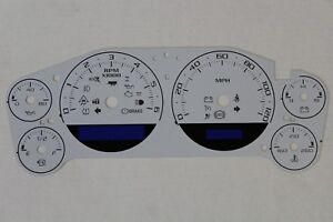 07 14 Custom White Escalade Style Speedometer Dash Cluster Gauge Face Inlay Only