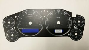 07 14 Custom Silverado Sierra Duramax Diesel Cluster Black Gauge Face Inlay Only