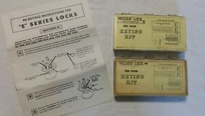 Lot Of 2 Weiser Lock 1420 Keying Kit Locksmith Tools