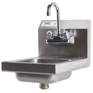 New Regency Commercial Faucet Nsf Steel Hand Washing Sink Stainless 12 X 16