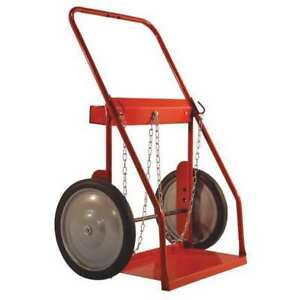 Milwaukee Hand Trucks Dc40875 Dual Cylinder Cart with 16 solid Tires