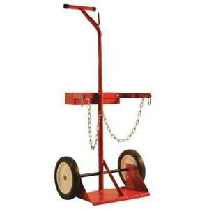 Steel Dual Cylinder Cart with Tray Milwaukee Hand Trucks Dc40143