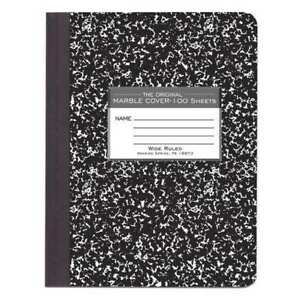 48pk Composition Books 100 Sht 9 75 x7 5 Wide Rd Black Roaring Spring 77230