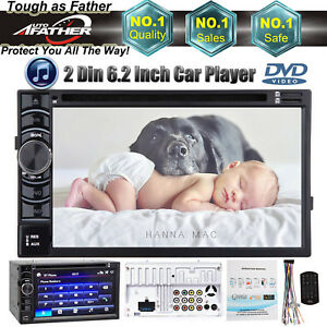 2 Din 6 2 Car Stereo Dvd Radio Player In Dash Bluetooth For Honda Element Cr V