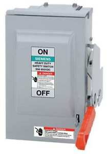 60 Amp 600vac dc Solar Safety Disconnect Switch 3p Siemens Hf362rpvpg