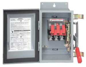 200 Amp 600vac dc Solar Safety Disconnect Switch 3p Siemens Hf364pv
