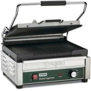 Waring Commercial Wpg250b Large Panini Grill 208v