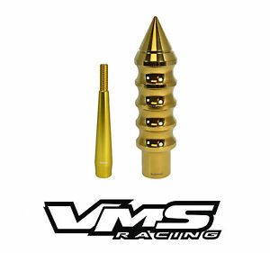 Gold Vms Racing Extended Spike Shift Knob 4 5 Shifter Extension For Nissan