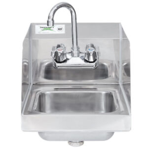 New Regency Steel Hand Washing Sink Stainless 12 X 16 Commercial Faucet Nsf