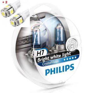 Philips Crystal Vision H7 Twin 2 Free Led T10 W5w