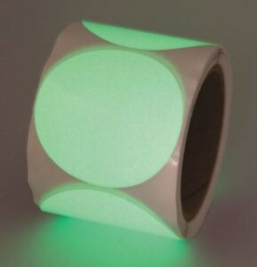 Glow in the dark Marking Tape circle Incom Manufacturing Gtcl30