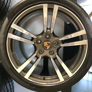 21 Porsche Cayenne S Gts Turbo Oem Wheels Tires 295 35 21 Factory 21x10 Germany
