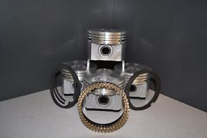 1977 1992 Ford Car 302 5 0l Ohv V8 Flat Top Pistons Moly Rings