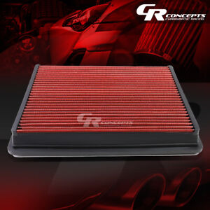 Red Washable Flow Air Filter For 01 17 Chevy Gmc Silverado Sierra 1500 3500 Hd