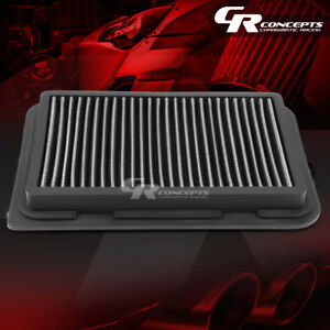 Silver Washable High Flow Air Filter Panel For 09 17 Toyota Corolla 07 17 Yaris