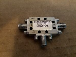 Magnum Microwave Mm44pg 10 Frequency Mixer Sma f 2 8ghz Rf Lo Remec 59277 017