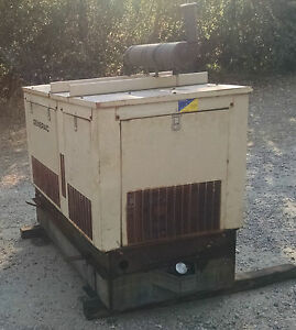 Diesel Generator 19kw Standby 17 Kw Prime water Cooled Low Hours Enclosed