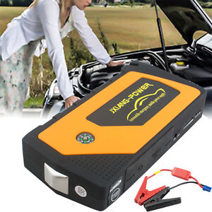 Safety Use Jump Starter Auto Car Battery Charger Mini Power Bank Led Light 12v