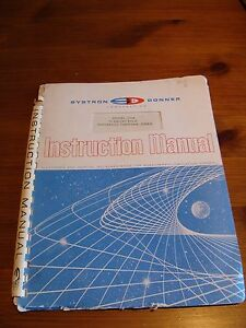 Systron Donner 1034 Universal Counter Timer Instruction Maintenance Manual