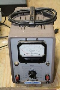 Hp 400d Hewlett packard Vacuum Tube Voltmeter Model 400d