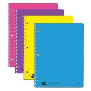24pk 1 Sub Wire Notebooks 11 x8 5 80 Sht College Rd Fash Roaring Spring 11285