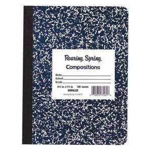 24pk Composition Books 100 Sht 9 75 x7 5 Unruled Blue Roaring Spring 77261