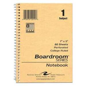 48pk 1 Sub Wire Notebooks 7 x5 80 Sht College Rd Roaring Spring 12014